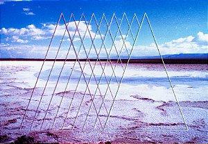 Foto bordada Triângulos Lilás e Azul