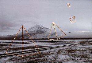 Foto bordada Pirâmides voando Nevasca