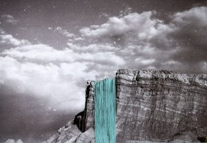 Foto bordada Penhasco cachoeira