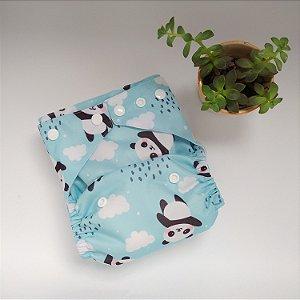 Ecofralda Pocket PUL  Panda Azul