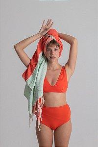 Hot Valentina Dupla Face Preto/Tangerine