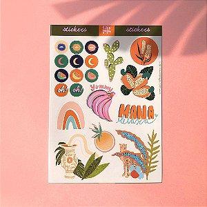 Cartela de stickers