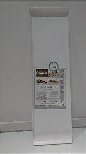 Bandeja de Servir 15x50 cm Poli Branca - VEMPLAST
