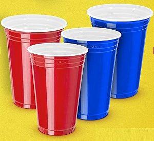 Copo plástico 300 mls estilo americano pacote com 25 unidades