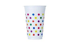 Copo plástico 300 mls festa estilo poá pacote com 30 unidades