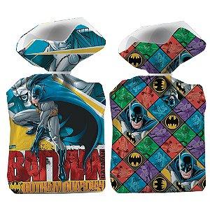 Sacola plastica Batman com 8 unidades