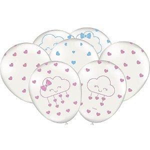 Balão Chuva de amor pacote com 25 unidades