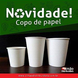Copo De Papel Branco Biodegradável 240ml pacote com 50 Unidades