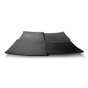 PRATO QUADRADO BLACK 23cm - MELAMINA GX5378 - MARCAMIX