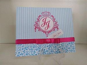 Convite Clássico - Azul e Pink