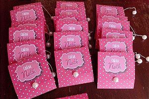 Convite Chá da Noiva - Rosa c/ Pérola