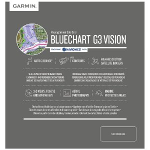 Carta Náutica Garmin Bluechart G3 Vision Costa Leste América Do Sul
