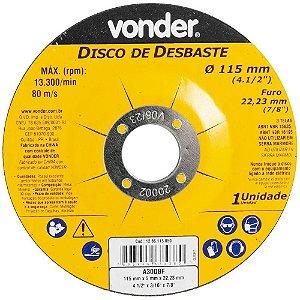 Disco Desbaste 115x5, 0x22, 23 DBV Vonder