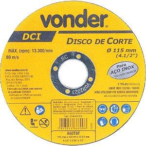 Disco Corte 115,0x1, 0x22,23 DCI Inox Vonder