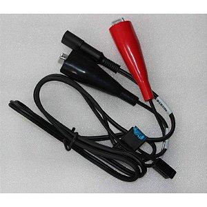 Cabo com adaptador jacaré para rádio externo, bateria e cabo