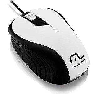 Mouse Optico Emborrachado Usb Multilaser 1200dpi Mo224