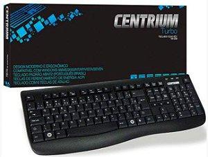 Teclado KB-2128 Preto USB ABNT2