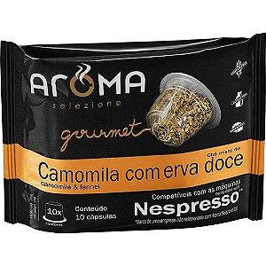 Cápsulas de Chá de Camomila com erva-doce Nespresso - 10 Unidades