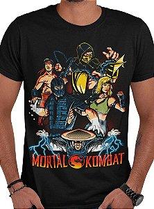 Camiseta Mortal Kombat - Torneio Mortal