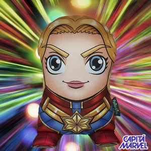 Almofada Fofuritos Capitã Marvel