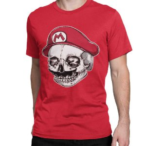 Camiseta Mario - Skull