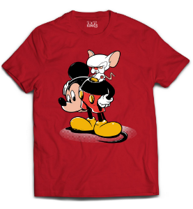 Camiseta Pink e Cerebro - The Brain Mouse