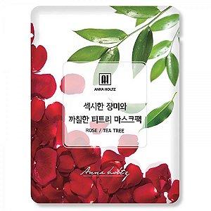 Máscara Facial - Rose & Tea Tree 25ml