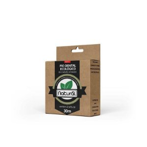 REFIL - Fio Dental Ecológico de Carvão Ativado (contém 2 refis de 30m)