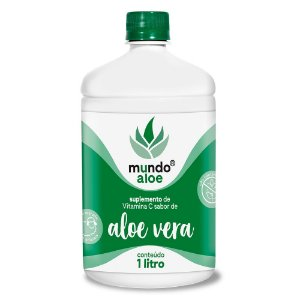 Suplemento Orgânico Sabor Aloe Vera com Vitamina C Mundo Aloe 1L