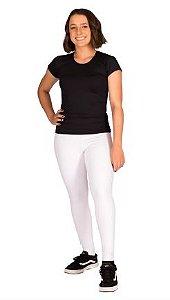 Blusa feminina, justa, manga curta de leve compressão com Tecnologia Emana®