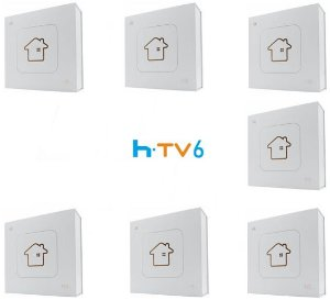Kit de 7 Receptores Htv 6 Lite Ultra HD 8GB