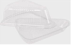 Embalagem Cristal –  Fatia de torta Tampa e base Com 100 Unidades