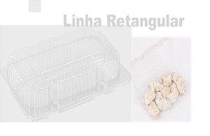 Embalagem Cristal –  Retangular  pequena baixa  Articulado  Com 100 unidades