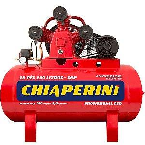 Compressor de Ar Média Pressão 15 Pés 3HP 150 Litros 220/380V Trifásico-CHIAPERINI