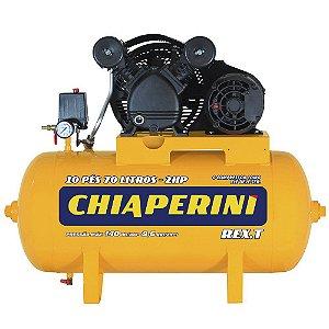 Compressor de Ar 10 Pés 2HP 70L 220/380V Trifásico Rex.t-CHIAPERINI