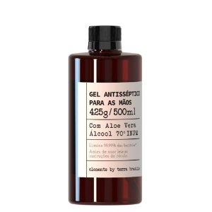 Álcool em Gel 70 INPM Perfumado com Extrato de Aloe Vera 500ML Refil tampa rosca