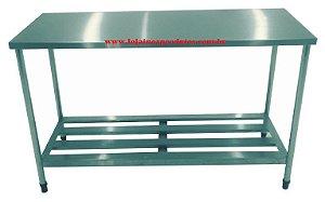 Mesa Industrial 17 - Inox 430 - 1,20 x 0,70 x 0,85 MT De Altura