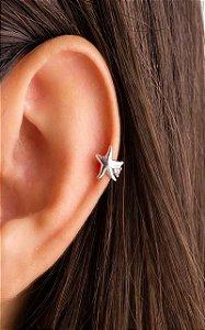 Piercing estilo raio com estrela prata 925