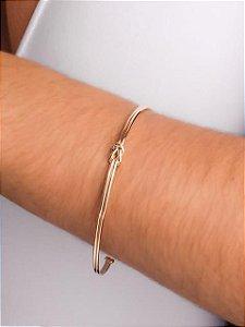 Pulseira bracelete fio duplo nó