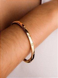 Pulseira bracelete quadrada com símbolos