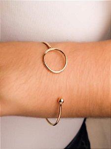 Pulseira bracelete fio redondo com circulo aberta