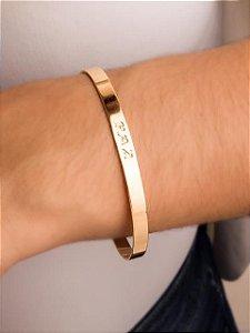 Pulseira bracelete escrito paz