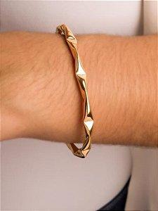 Pulseira bracelete tubo torcido
