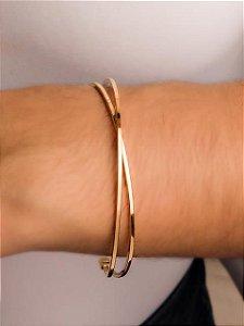 Pulseira bracelete X fio quadrado