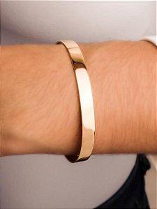Pulseira bracelete fio quadrada lisa grossa