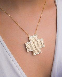 Colar cruz Pai Nosso