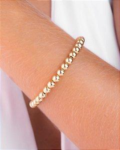 Pulseira bracelete com bolas lisas