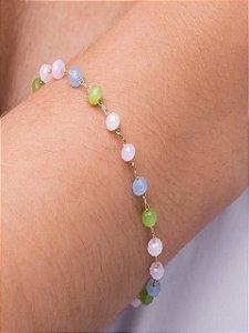 Pulseira colorida com cristais Swarovski