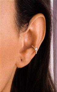 Piercing fio entrelaçado com zircônia