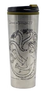 COPO VIAGEM METAL 450ML GAME OF THRONES CASAS